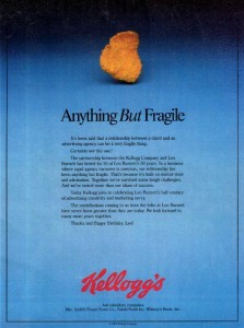 Kellogg Ad for Advertsing Age